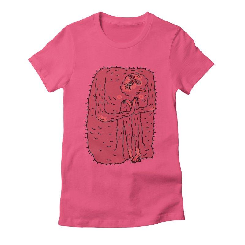No Hugs Pls Women's Fitted T-Shirt by Burrito Goblin