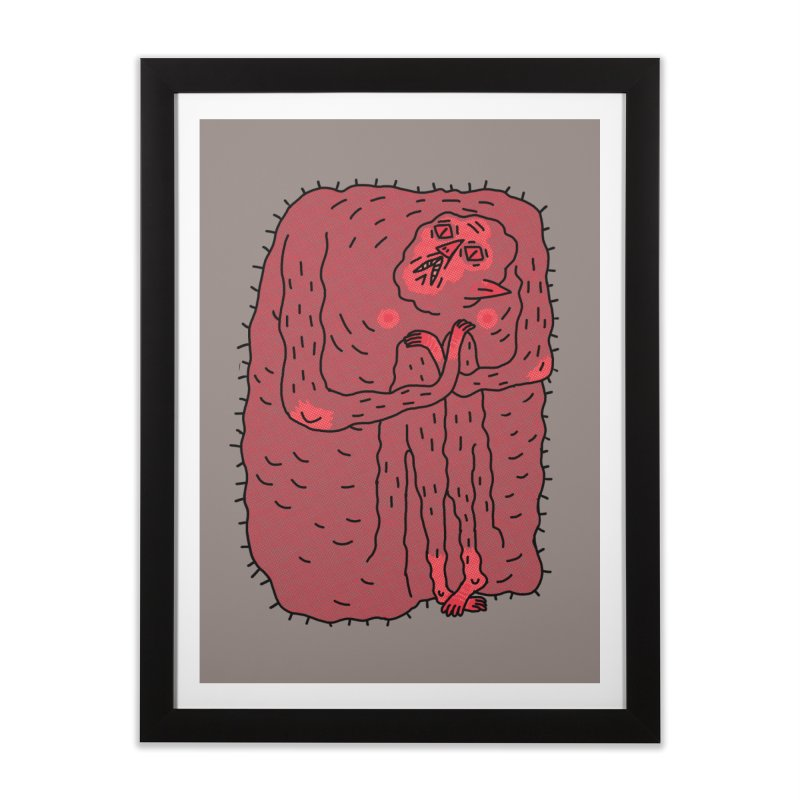 No Hugs Pls Home Framed Fine Art Print by Burrito Goblin