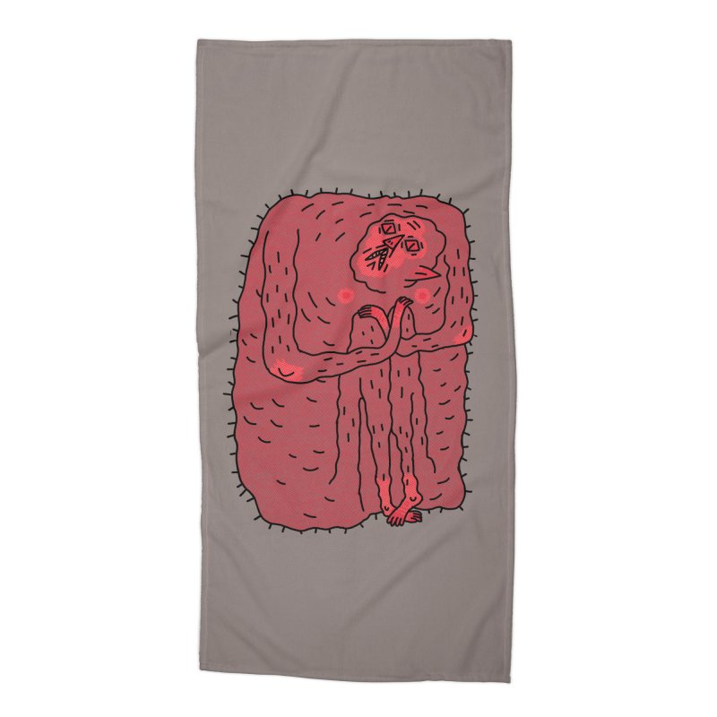 No Hugs Pls Accessories Beach Towel by Burrito Goblin