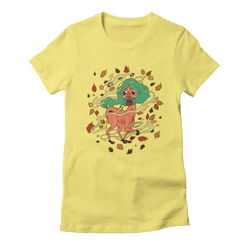 Magic Paul Women's Fitted T-Shirt by Burrito Goblin