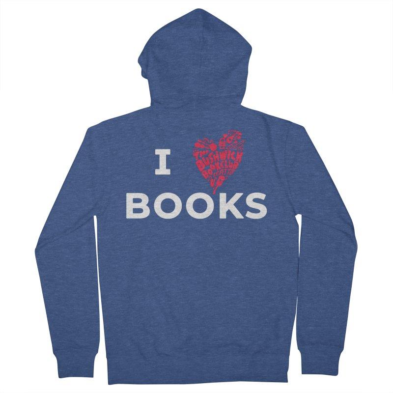 I Heart Books Men's Zip-Up Hoody by Bushwick Book Club Seattle!