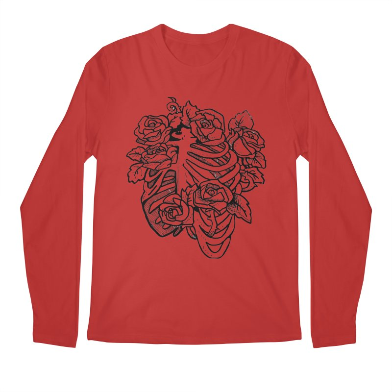 RIB CAGE Men's Longsleeve T-Shirt by bussola's Artist Shop