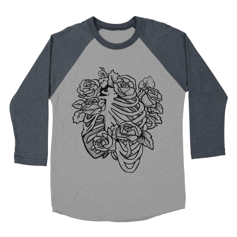 RIB CAGE Men's Baseball Triblend T-Shirt by bussola's Artist Shop