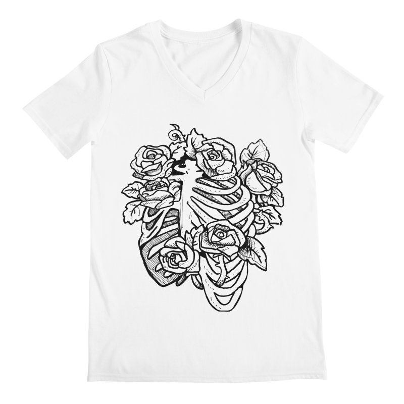 RIB CAGE Men's V-Neck by bussola's Artist Shop