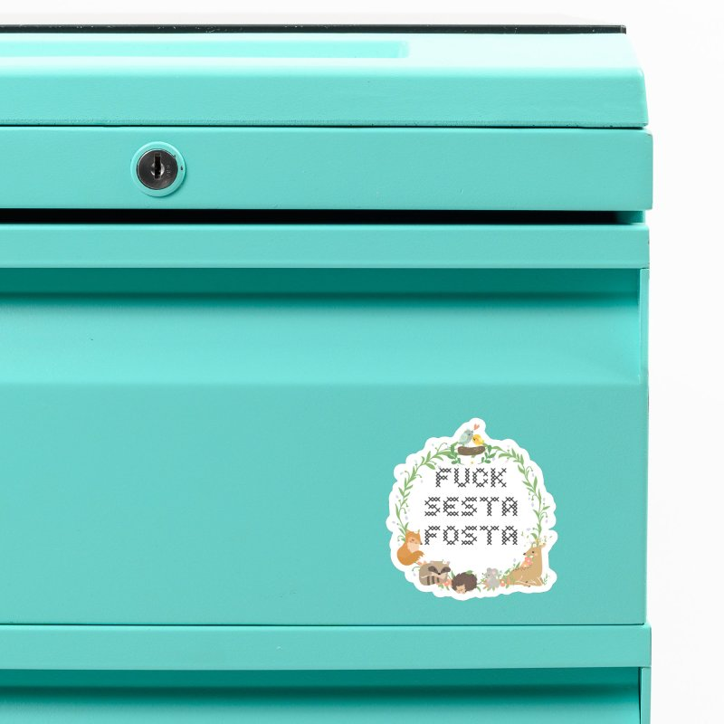 F Sesta Fosta - oh for cute Accessories Magnet by Nisa Fiin's Artist Shop