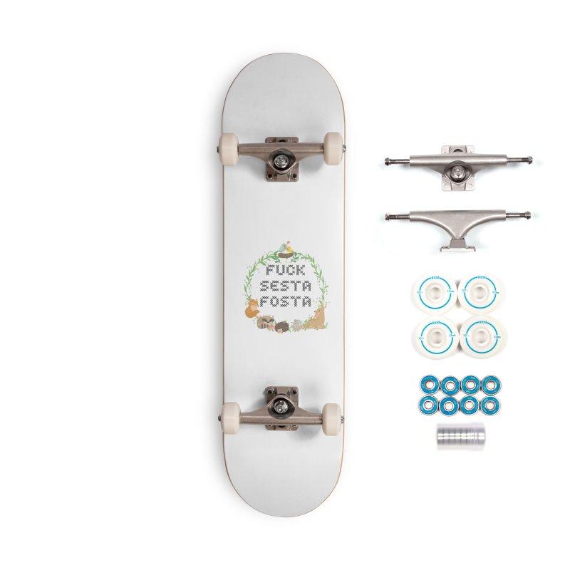 F Sesta Fosta - oh for cute Accessories Skateboard by Nisa Fiin's Artist Shop