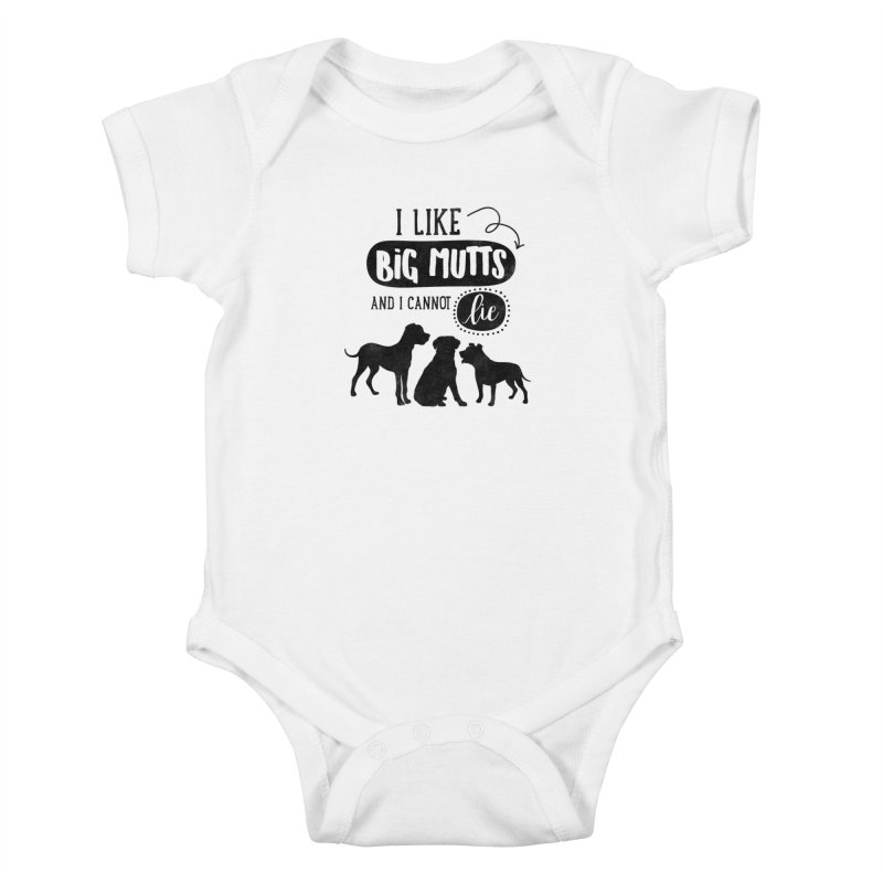 I Like Big Mutts Kids Baby Bodysuit by Nisa Fiin's Artist Shop