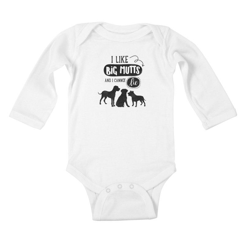 I Like Big Mutts Kids Baby Longsleeve Bodysuit by Nisa Fiin's Artist Shop