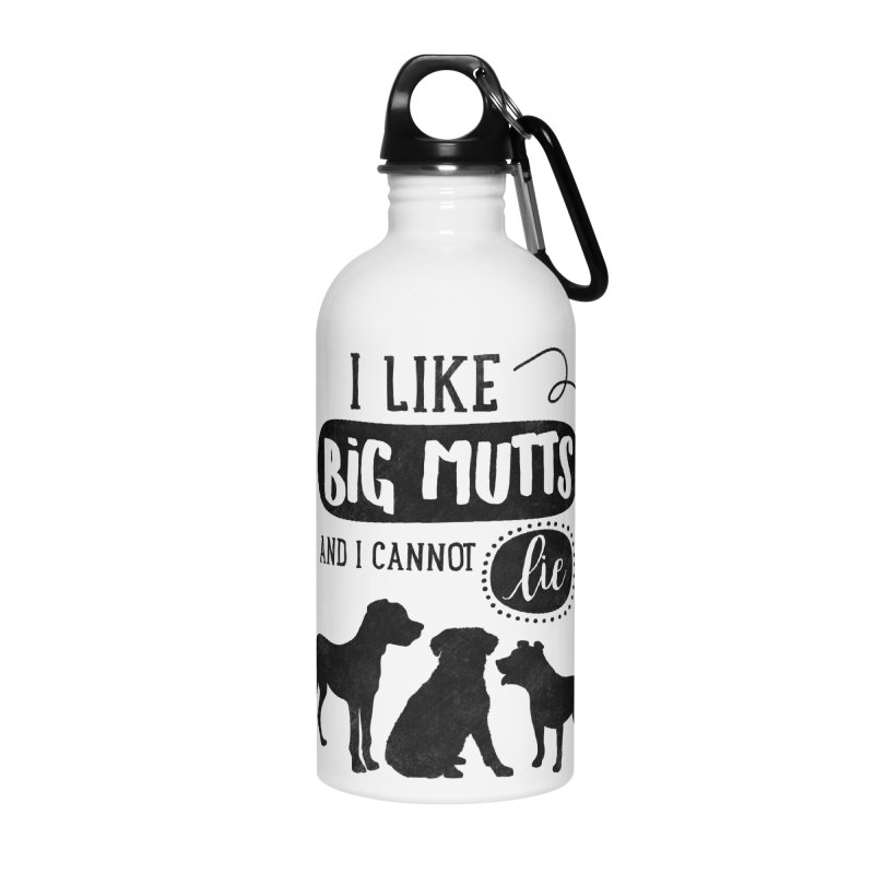 I Like Big Mutts Accessories Water Bottle by Nisa Fiin's Artist Shop