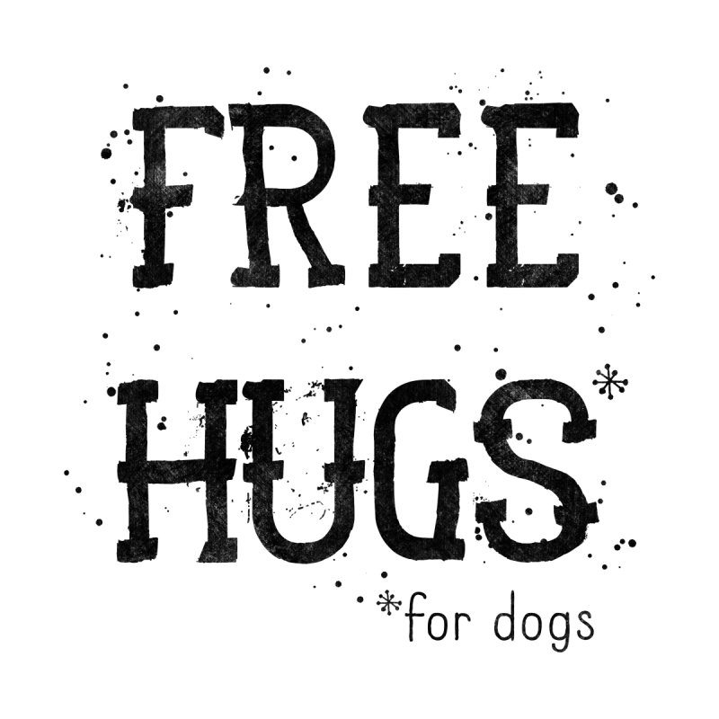 Free Hugs for dogs Accessories Notebook by Nisa Fiin's Artist Shop
