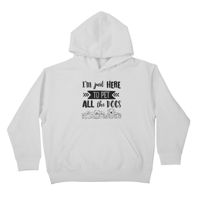Pet All the Dogs Kids Pullover Hoody by Nisa Fiin's Artist Shop
