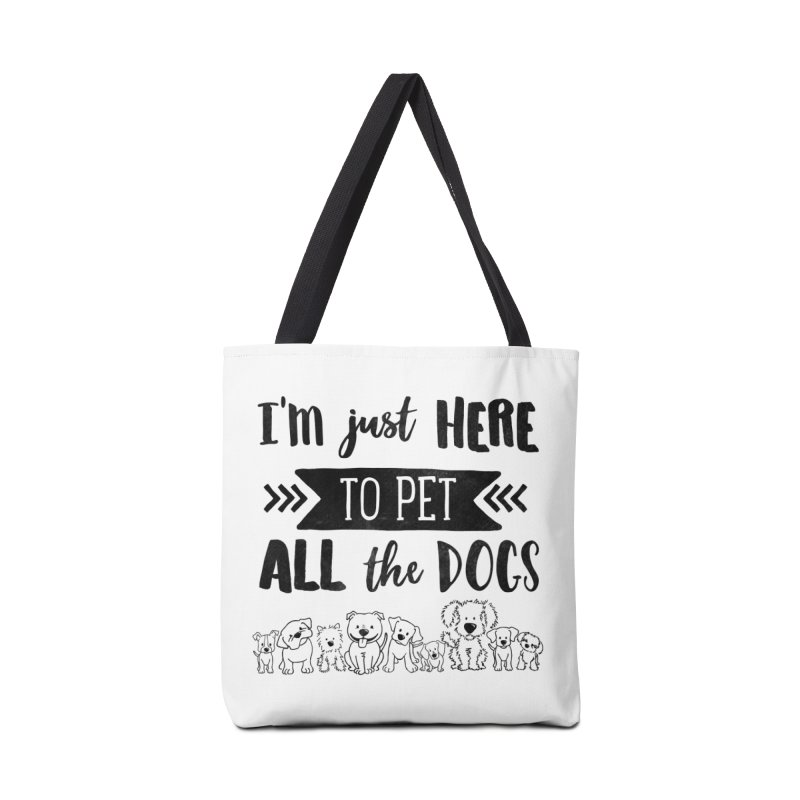 Pet All the Dogs Accessories Tote Bag Bag by Nisa Fiin's Artist Shop