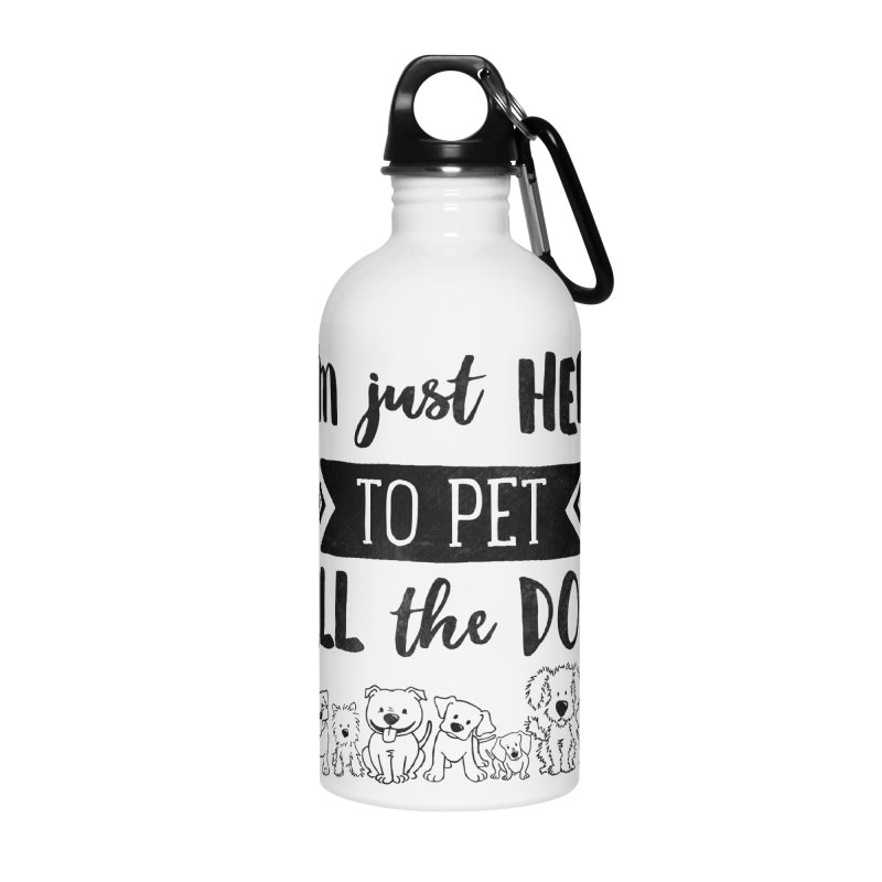 Pet All the Dogs Accessories Water Bottle by Nisa Fiin's Artist Shop