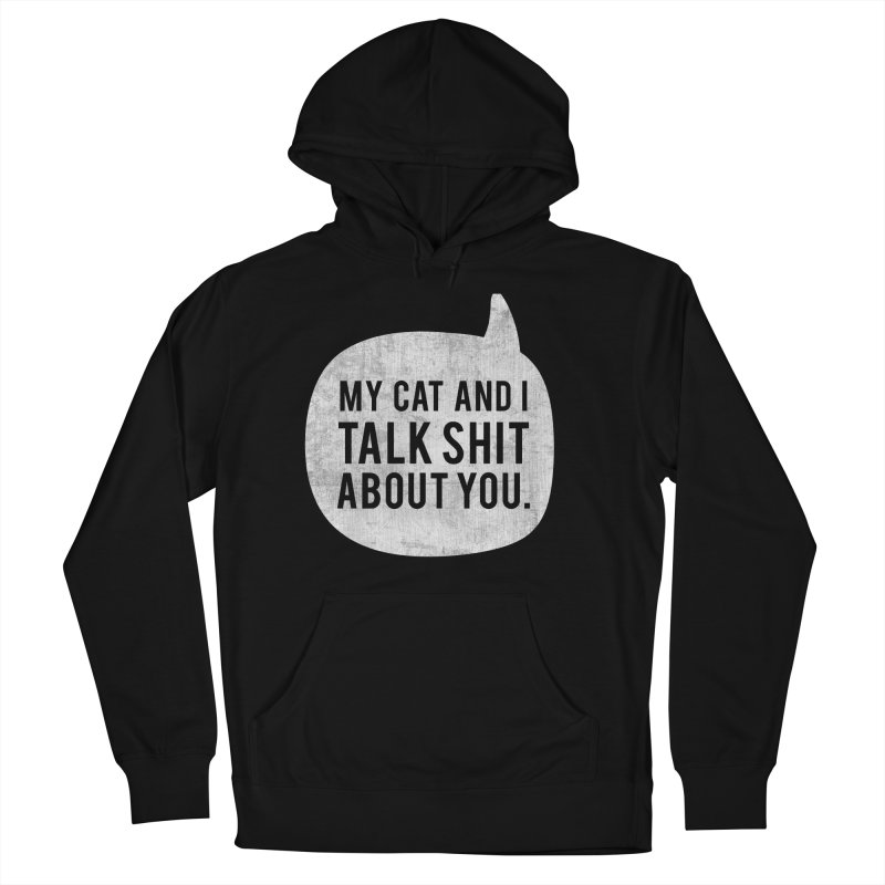 My Cat and I Talk - white Women's French Terry Pullover Hoody by Nisa Fiin's Artist Shop
