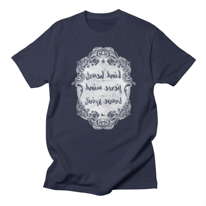 Kind Fierce Brave  -white Women's Regular Unisex T-Shirt by Nisa Fiin's Artist Shop