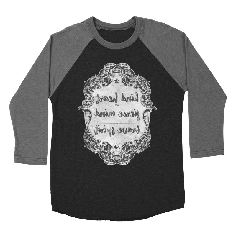Kind Fierce Brave  -white Women's Baseball Triblend Longsleeve T-Shirt by Nisa Fiin's Artist Shop