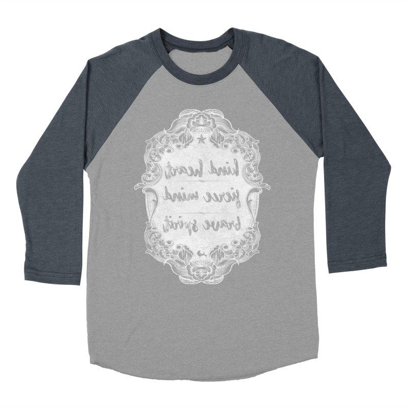 Kind Fierce Brave  -white Women's Baseball Triblend Longsleeve T-Shirt by Nisa Fiin's Artist Shop