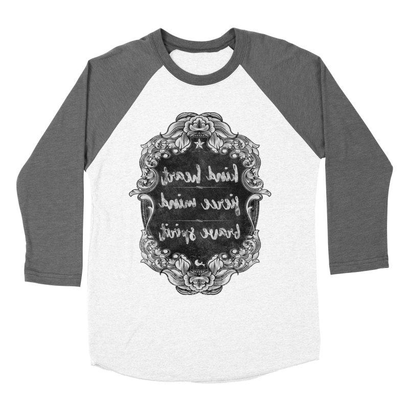 Kind-Fierce-Brave Women's Baseball Triblend Longsleeve T-Shirt by Nisa Fiin's Artist Shop