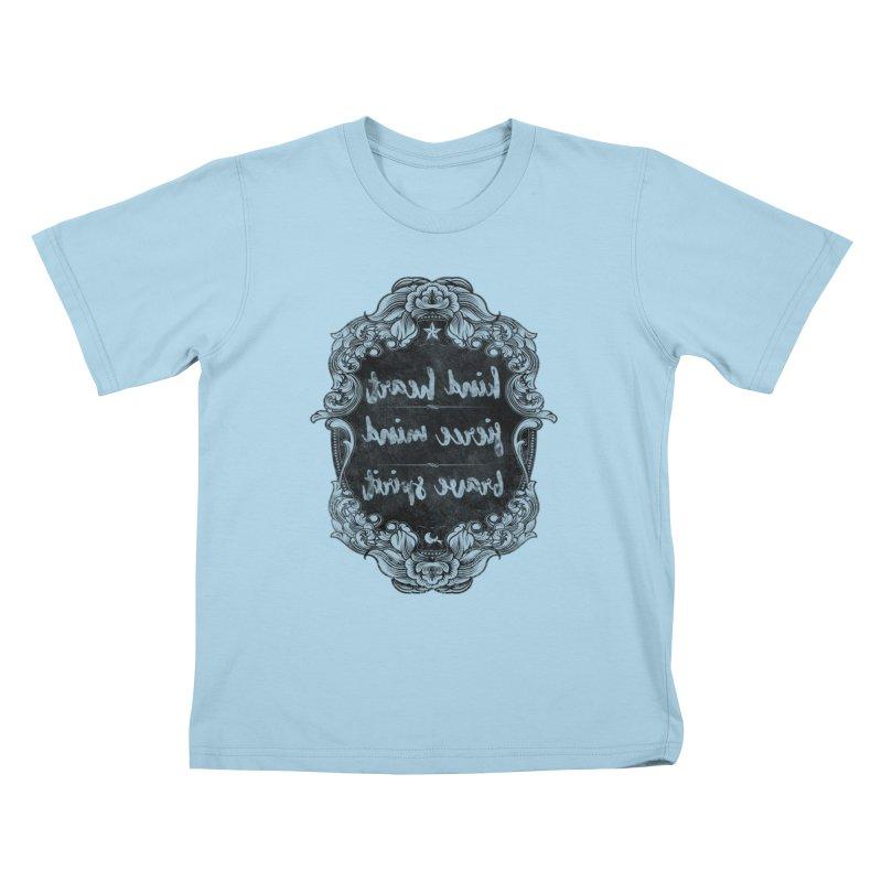 Kind-Fierce-Brave Kids T-Shirt by Nisa Fiin's Artist Shop