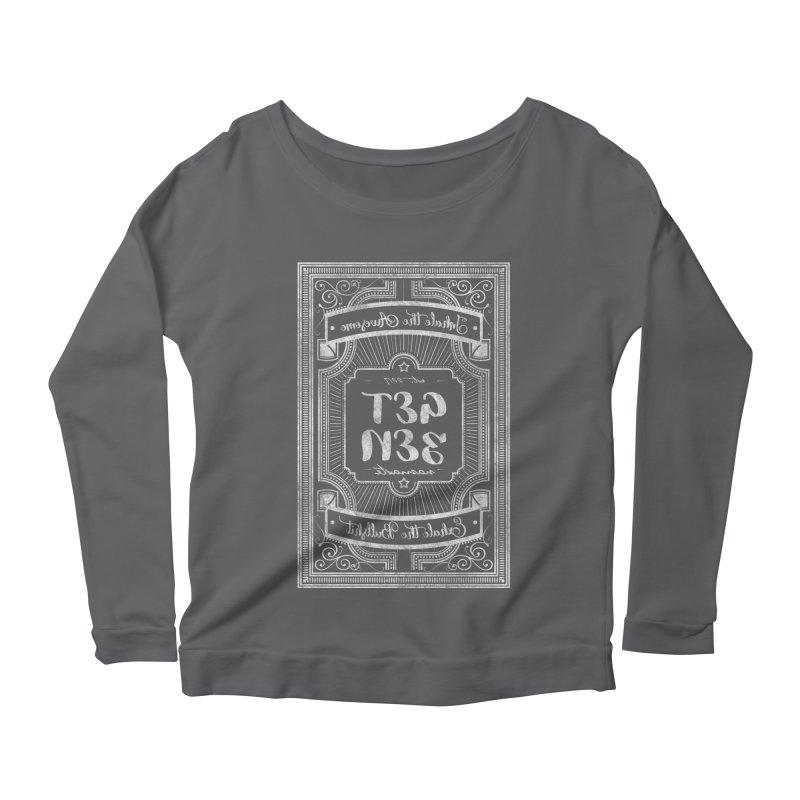 Get Zen - white Women's Scoop Neck Longsleeve T-Shirt by Nisa Fiin's Artist Shop