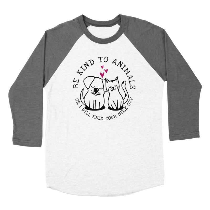 Be Kind to Animals Women's Baseball Triblend Longsleeve T-Shirt by Nisa Fiin's Artist Shop