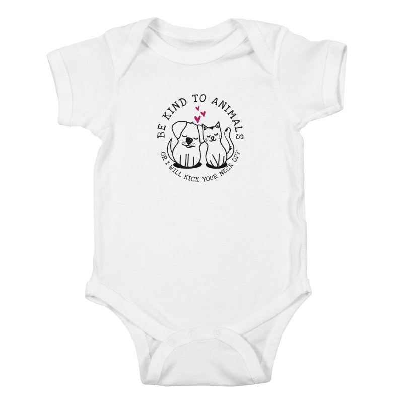 Be Kind to Animals Kids Baby Bodysuit by Nisa Fiin's Artist Shop