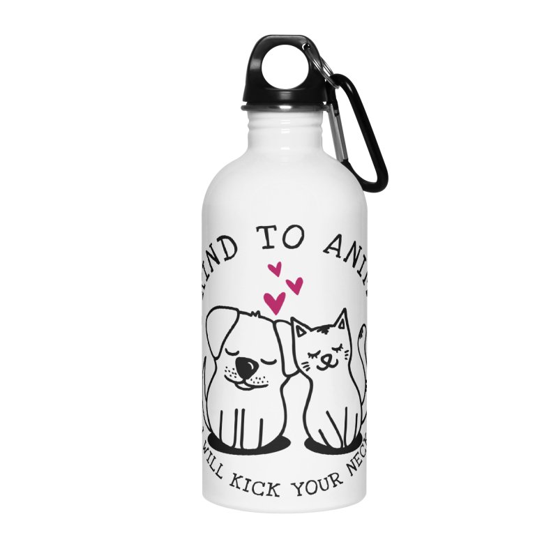 Be Kind to Animals Accessories Water Bottle by Nisa Fiin's Artist Shop