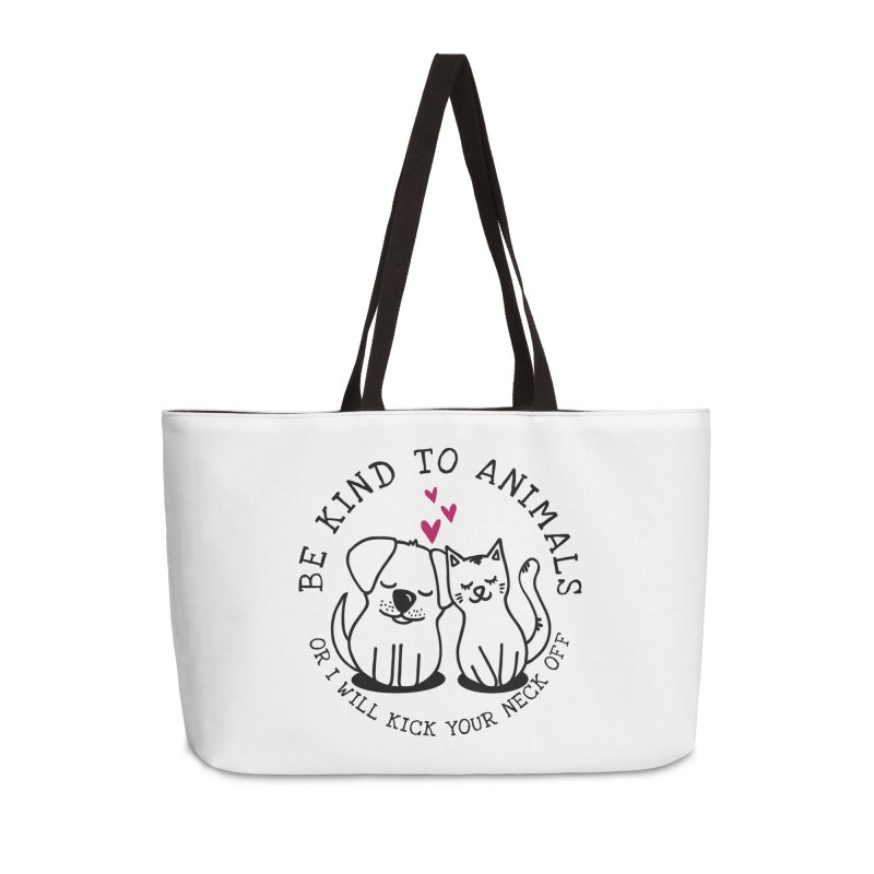 Be Kind to Animals Accessories Bag by Nisa Fiin's Artist Shop