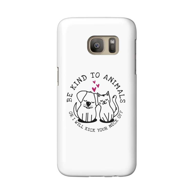 Be Kind to Animals Accessories Phone Case by Nisa Fiin's Artist Shop
