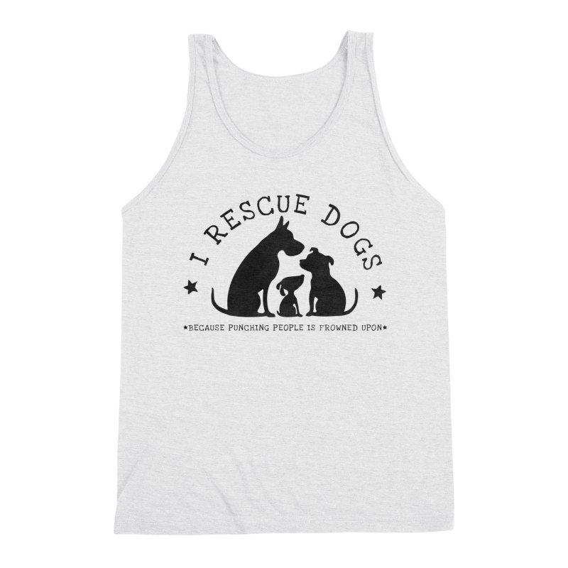 I Rescue Dogs Men's Triblend Tank by Nisa Fiin's Artist Shop
