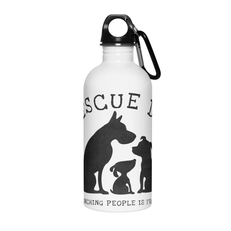 I Rescue Dogs Accessories Water Bottle by Nisa Fiin's Artist Shop