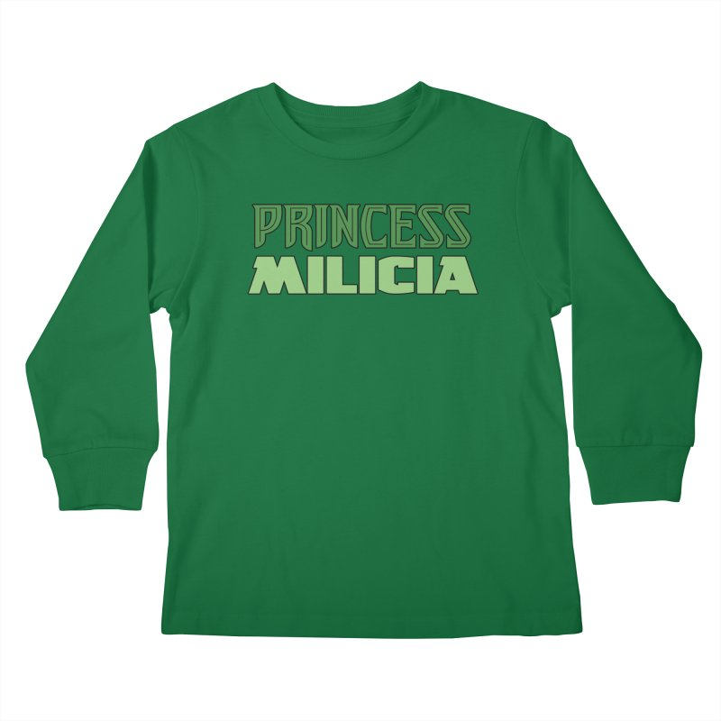 Princess Milicia Kids Longsleeve T-Shirt by The Official Bustillo Publishing Shop