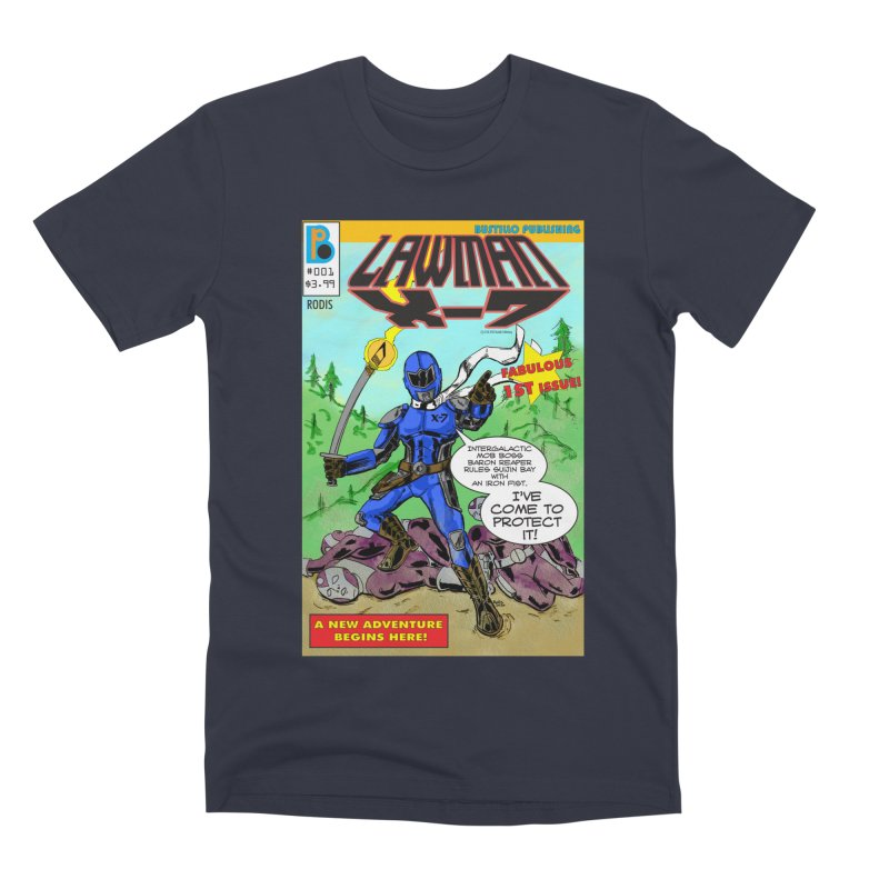 Lawman X-7 #001 Men's T-Shirt by The Official Bustillo Publishing Shop
