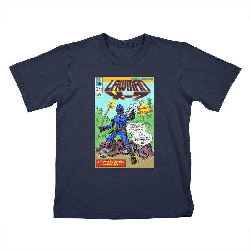 Lawman X-7 #001 Kids T-Shirt by The Official Bustillo Publishing Shop