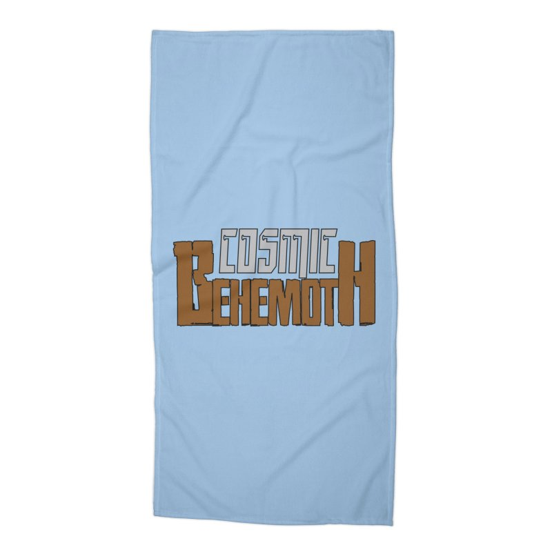 Cosmic Behemoth Logo Accessories Beach Towel by The Official Bustillo Publishing Shop
