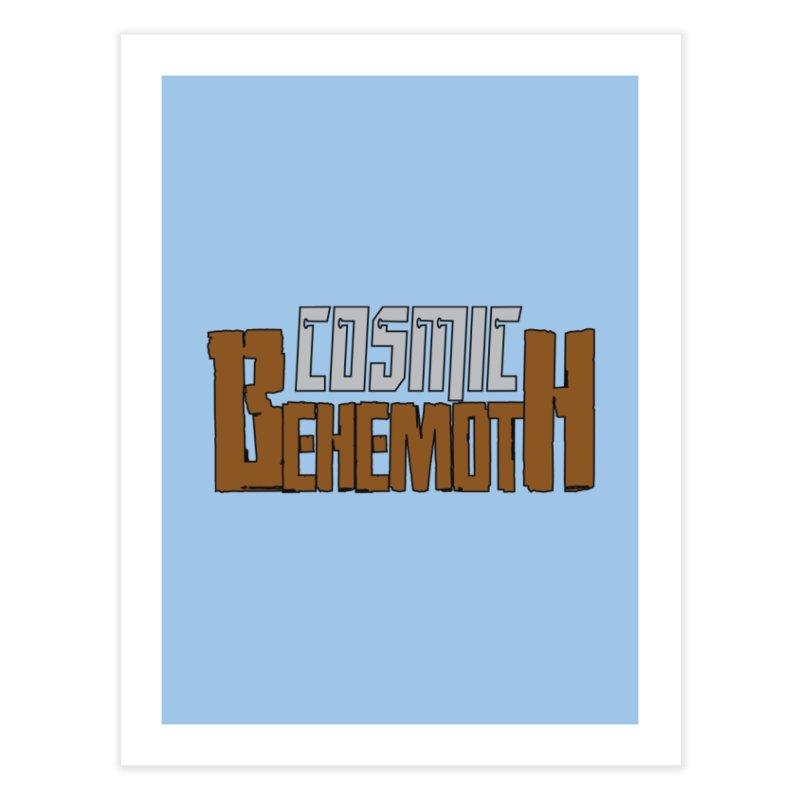Cosmic Behemoth Logo Home Fine Art Print by The Official Bustillo Publishing Shop