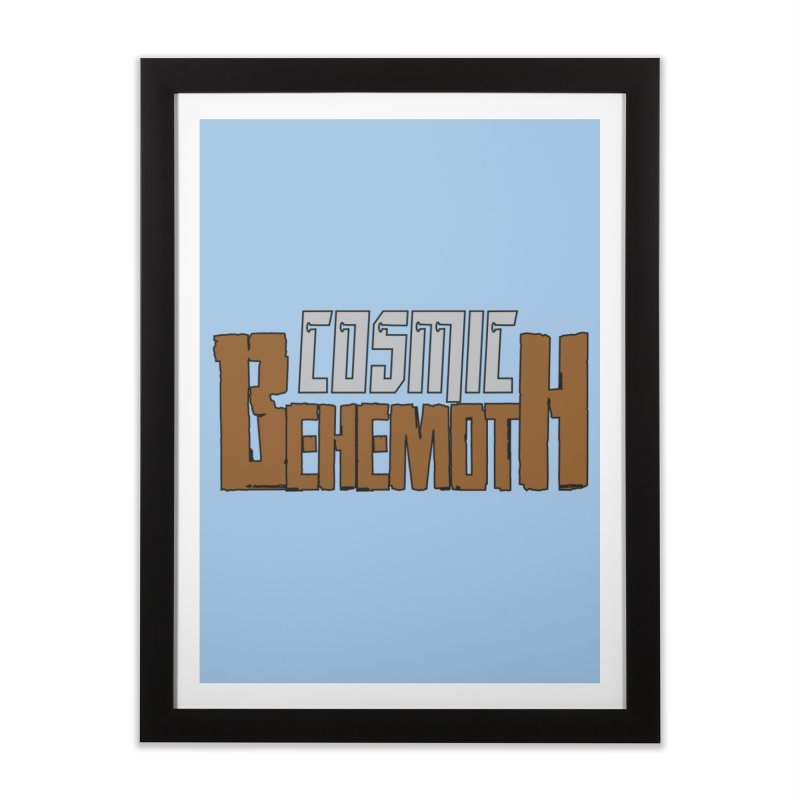 Cosmic Behemoth Logo Home Framed Fine Art Print by The Official Bustillo Publishing Shop