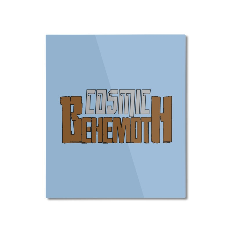 Cosmic Behemoth Logo Home Mounted Aluminum Print by The Official Bustillo Publishing Shop