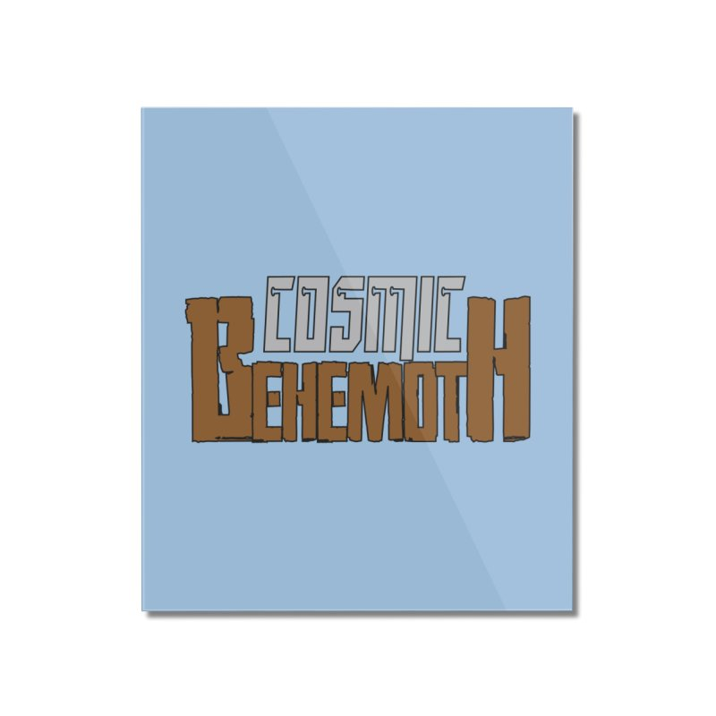 Cosmic Behemoth Logo Home Mounted Acrylic Print by The Official Bustillo Publishing Shop