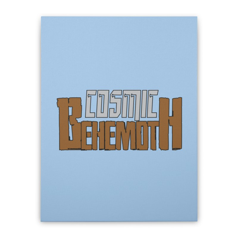 Cosmic Behemoth Logo Home Stretched Canvas by The Official Bustillo Publishing Shop