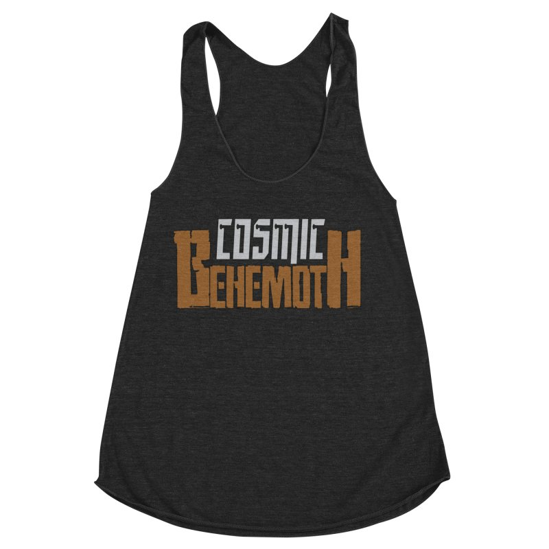 Cosmic Behemoth Logo Women's Racerback Triblend Tank by The Official Bustillo Publishing Shop