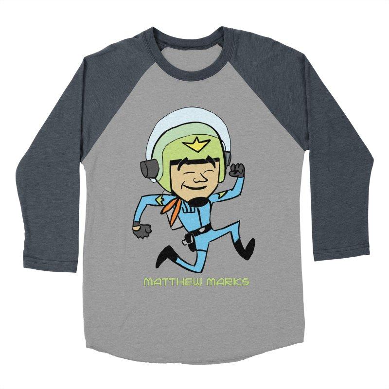 Chibi Matthew Marks Men's Baseball Triblend Longsleeve T-Shirt by The Official Bustillo Publishing Shop
