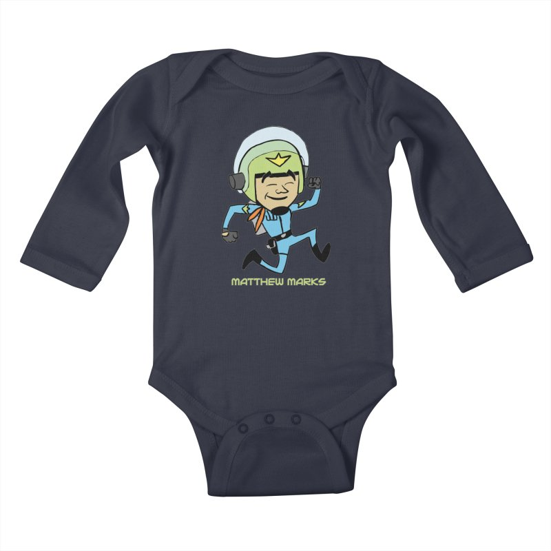 Chibi Matthew Marks Kids Baby Longsleeve Bodysuit by The Official Bustillo Publishing Shop