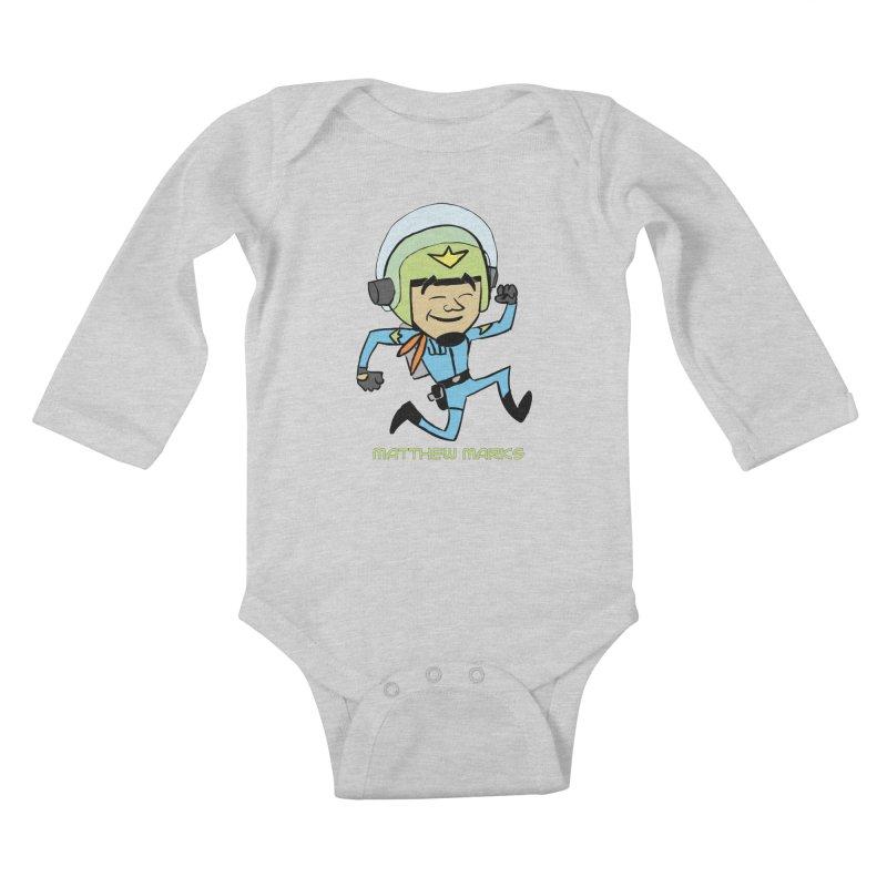 Chibi Matthew Marks Kids Baby Longsleeve Bodysuit by The Official Bustillo Publishing Shop