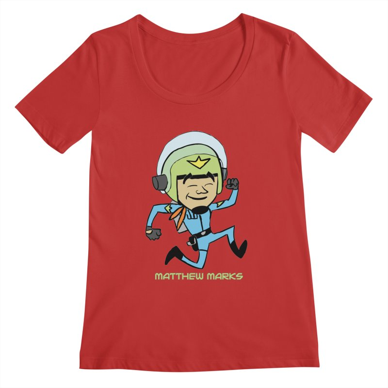 Chibi Matthew Marks Women's Regular Scoop Neck by The Official Bustillo Publishing Shop