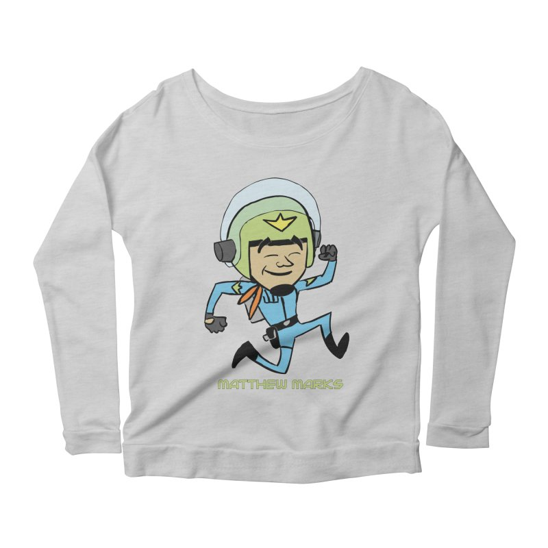 Chibi Matthew Marks Women's Scoop Neck Longsleeve T-Shirt by The Official Bustillo Publishing Shop