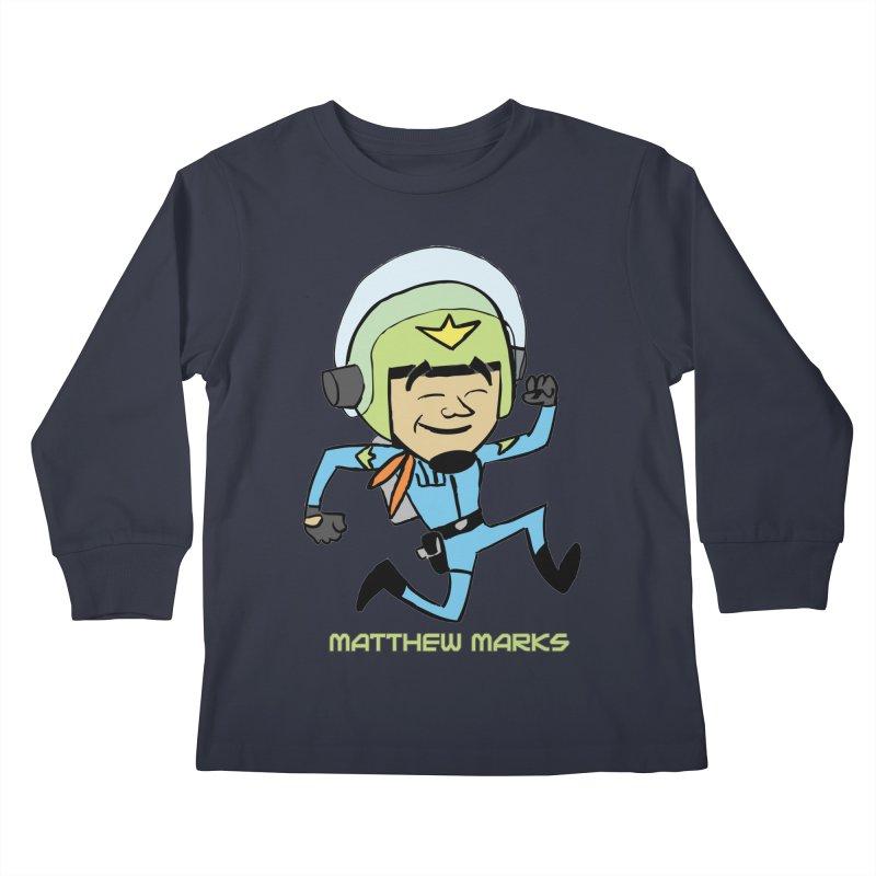 Chibi Matthew Marks Kids Longsleeve T-Shirt by The Official Bustillo Publishing Shop