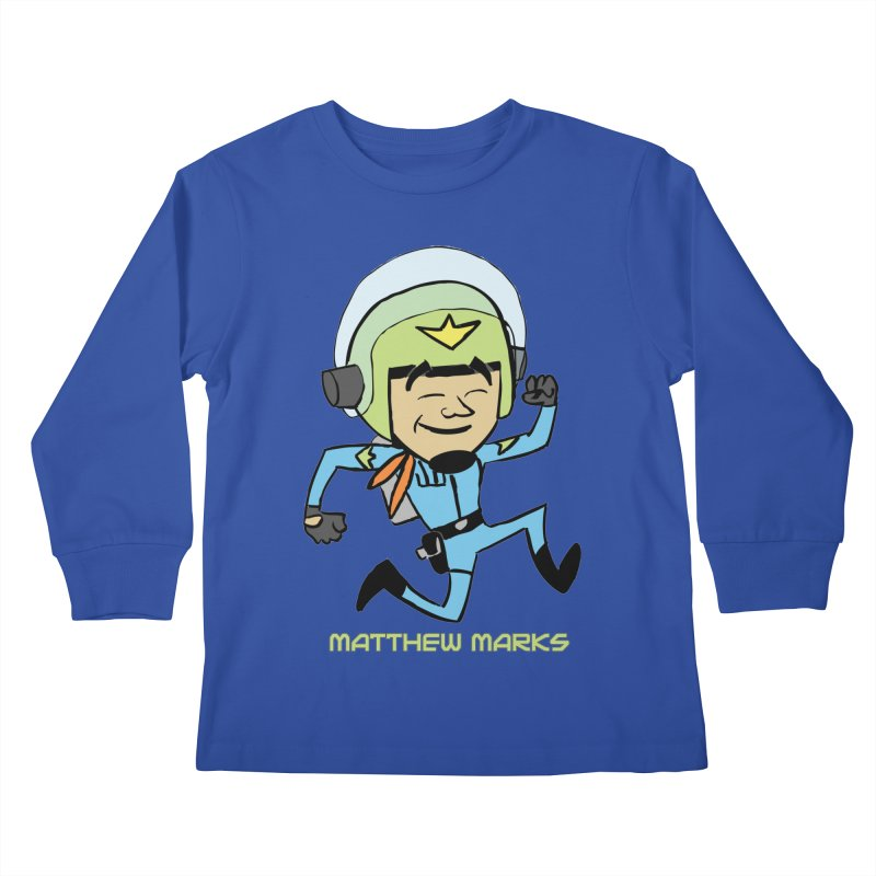 Chibi Matthew Marks Kids Longsleeve T-Shirt by The Official Bustillo Publishing Shop