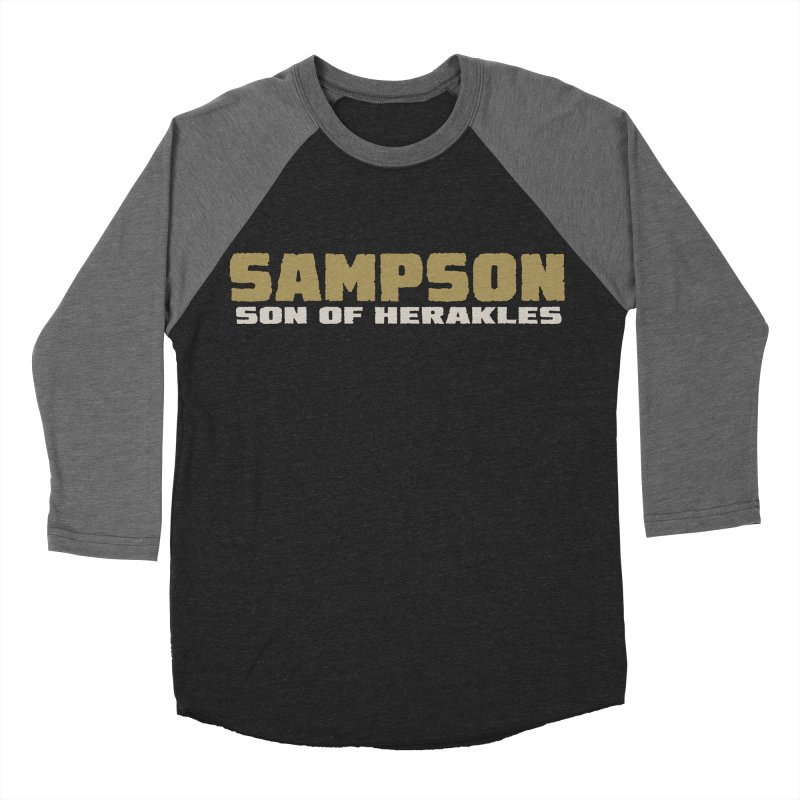 Sampson Son of Herakles Women's Baseball Triblend Longsleeve T-Shirt by The Official Bustillo Publishing Shop