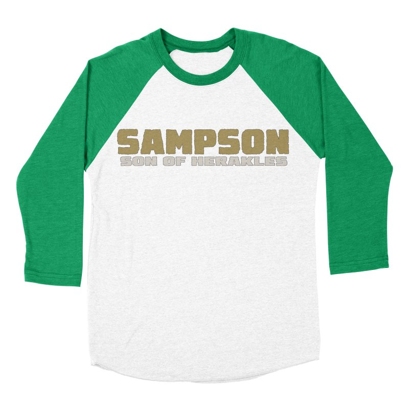 Sampson Son of Herakles Men's Baseball Triblend Longsleeve T-Shirt by The Official Bustillo Publishing Shop